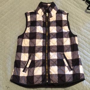 Old Navy Black and White Checkered Vest - M